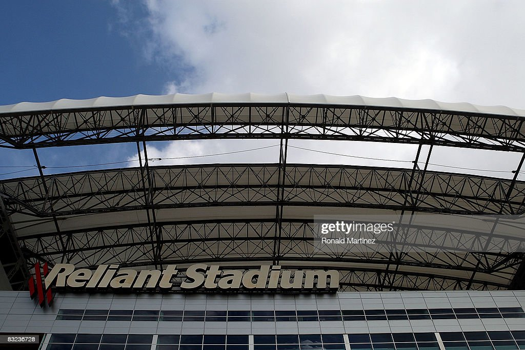 A view of roof damage to Reliant Stadium due to Hurricane Ike before a game between the Miami Dolphins and the Houston Texans on October 12, 2008 in Houston, Texas.