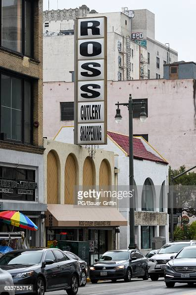 A view of Ross Cutlery in downtown Los Angeles where Chloe Grace Moretz purchased two knifes After eating lunch at Eggslut in Grand Central Market...