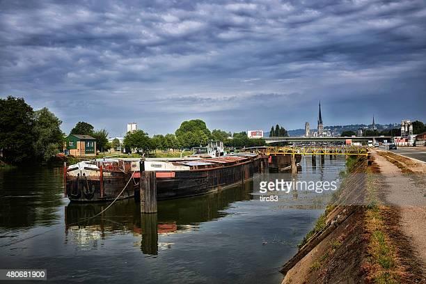Vue sur la Seine à Rouen, France