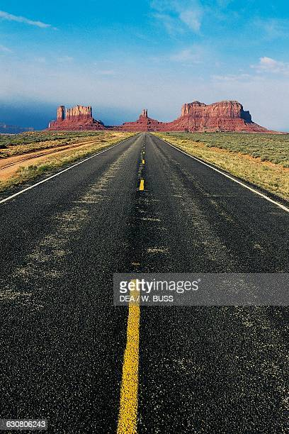 View of Route 163 Monument valley Arizona United States