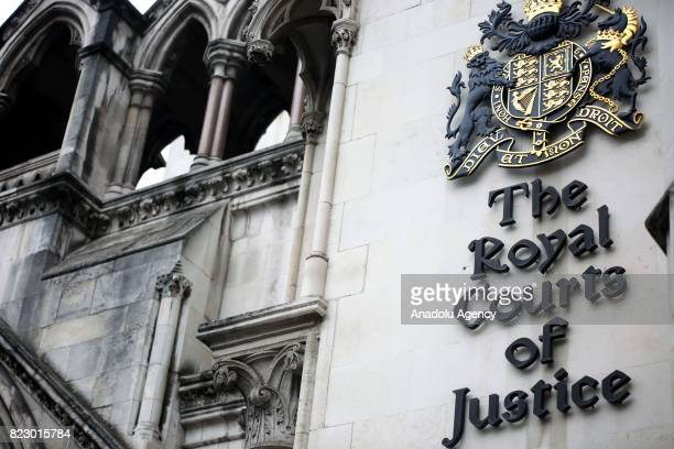 A view of Royal Courts Of Justice as terminally ill baby Charlie Gard's mother Connie Yates arrives in central London United Kingdom on July 26 2017
