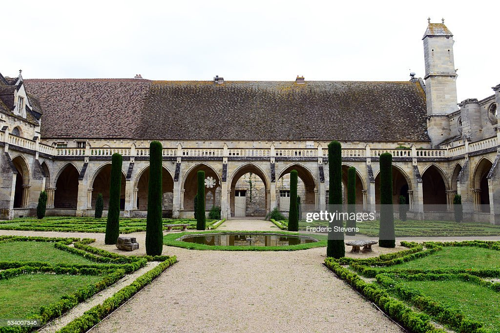 A view of Royaumont Abbey Cloister and the surrounding garden on May 24, 2016 in Asnieres-Sur-Oise, France. The Royaumont foundation is undertaking extensive construction work to refurbish the Abbey and extend its residential facilities and is due to be finished in July 2016. The abbey's current owners, the Daudy family, are well known in France for their cultivation of artistic talent, their generous philanthropy and their visionary taste in music and dance, on one occasion inviting Pink Floyd to perform in the grounds in 1971.