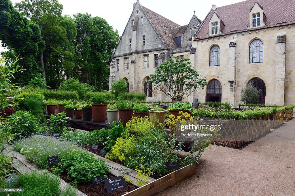 A view of Royaumont abbey medieval garden on May 24, 2016 in Asnieres-Sur-Oise, France. The Royaumont foundation is undertaking extensive construction work to refurbish the Abbey and extend its residential facilities and is due to be finished in July 2016. The abbey's current owners, the Daudy family, are well known in France for their cultivation of artistic talent, their generous philanthropy and their visionary taste in music and dance, on one occasion inviting Pink Floyd to perform in the grounds in 1971.