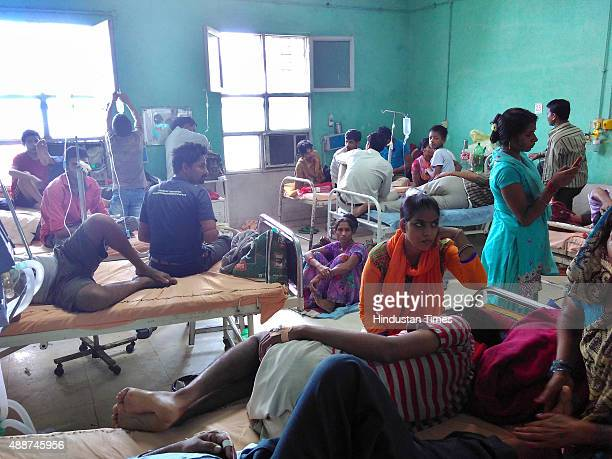 A view of Safdarjung Hospital's dengue ward on September 17 2015 in New Delhi India Delhi remained in the grip of panic over dengue as two minor...