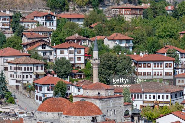 View of Safranbolu town famous with its historical old mansions and wooden houses, Karabuk, Turkey