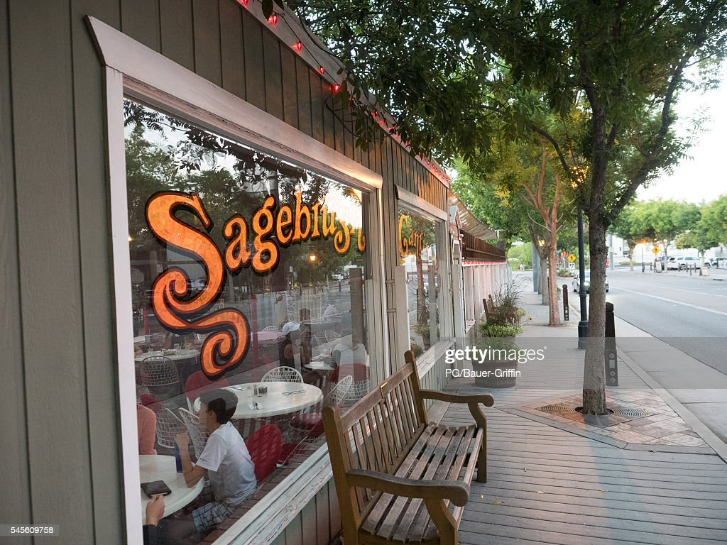 A view of Sagebrush Cantina at The Commons in Calabasas frequented location by the Kardashians on July 07 2016 in Calabasas California