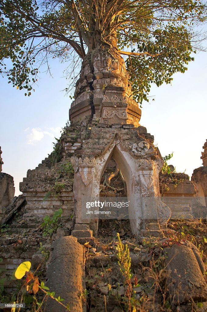 View of same Buddhist stupa : Stock Photo