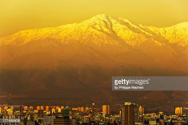 View of Santiago and Andean
