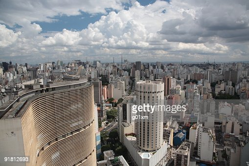 View of Sao Paulo, Brazil, from the top of a skyscraper