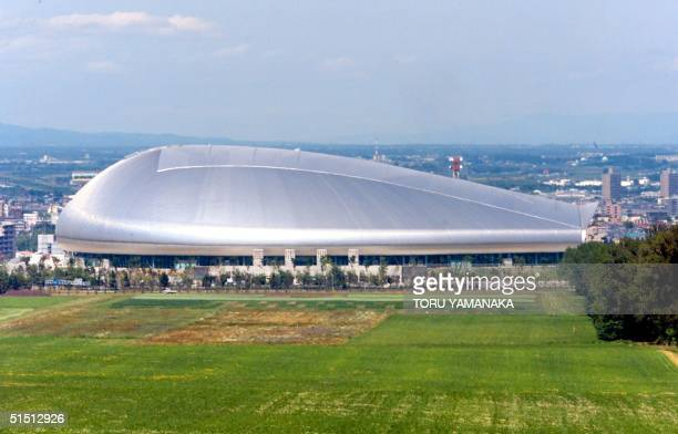 View of Sapporo Dome in Sapporo 02 July 2001 AFP PHOTO/Toru YAMANAKA