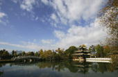 A view of scenery is seen at the Heilongtan Park on November 24 2006 in Lijiang ancient township of Yunnan Province China The Lijiang town has a...