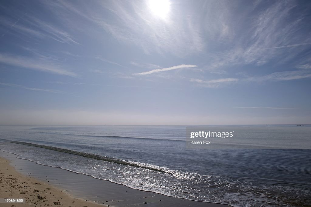 View of sea and sky, Poole, Dorset, UK
