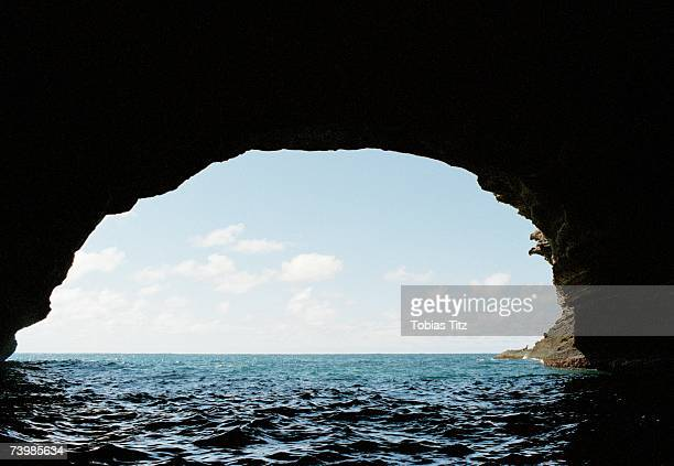 View of sea from a grotto
