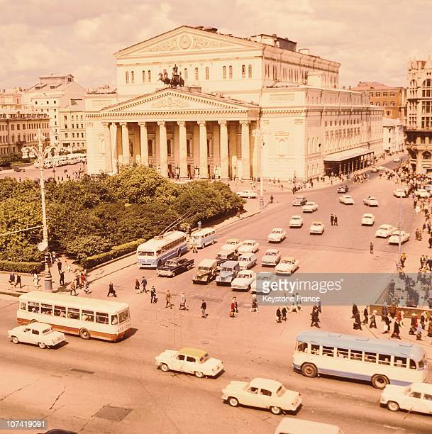 View Of Serdlov Square At The Bolshoi Theatre At Moscow In Ussr During The Seventies