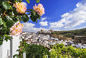 View of Setenil de las Bodegas village, one of the beautiful traditional white villages (Pueblos Blancos) of Andalusia, Spain