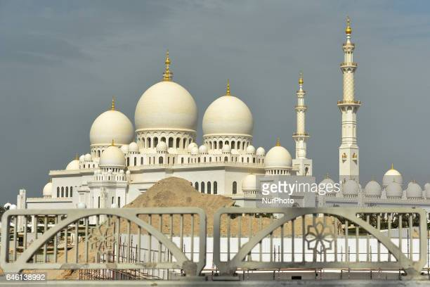 A view of Sheikh Zayed Grand Mosque located in Abu Dhabi and considered to be the key site for worship in the country and one of the largest mosques...