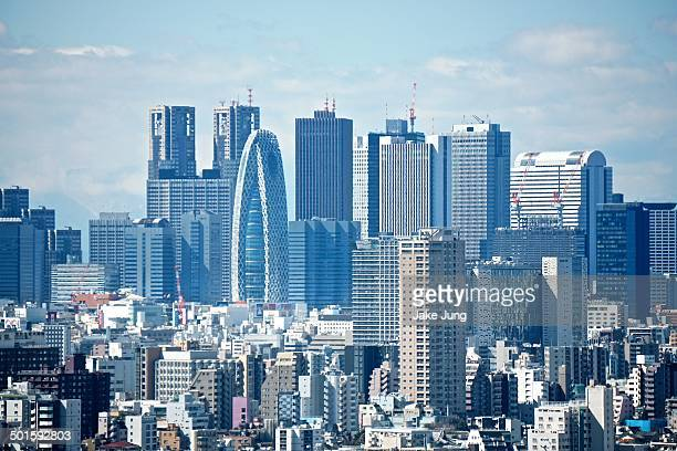 View of Shinjuku skyscrapers