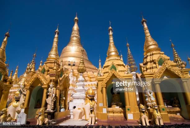 View of Shwedagon Pagoda in Yangon, Myanmar.