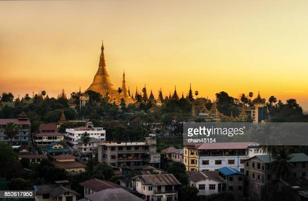 view of Shwedagon Pagoda Yangon, Myanmar.