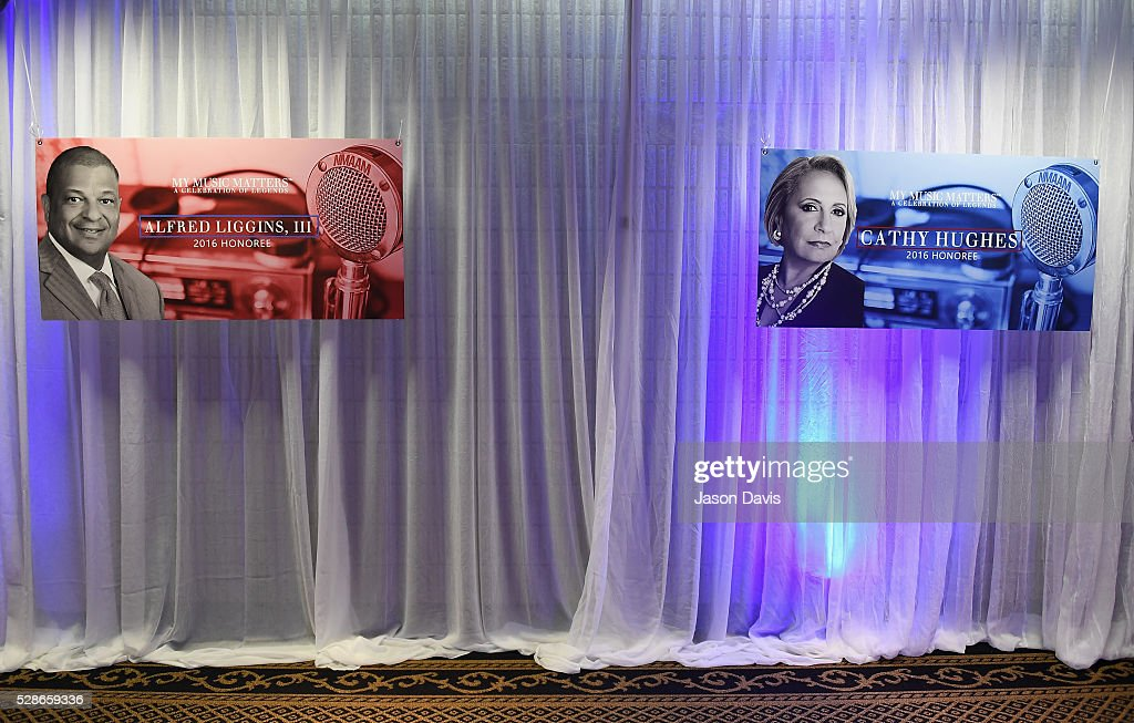 A view of signage during NMAAM's Celebration Of Legends Red Carpet And Luncheon on May 6, 2016 in Nashville, Tennessee.