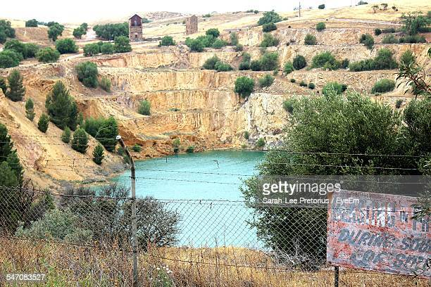 View Of Signboard At Copper Mine