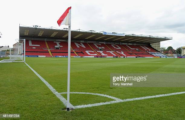 A view of Sincil Bank Stadium prior to the Pre Season Friendlly match between Lincoln City and Leicester City at Sincil Bank Stadium on July 21 2015...
