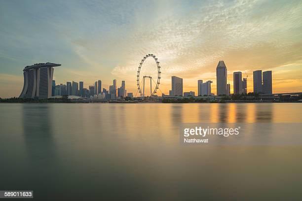 View of Singapore Skyscraper