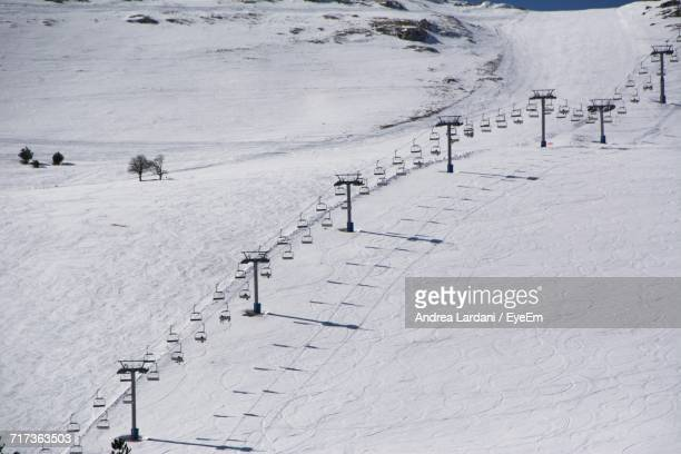 View Of Ski Lift In Snow