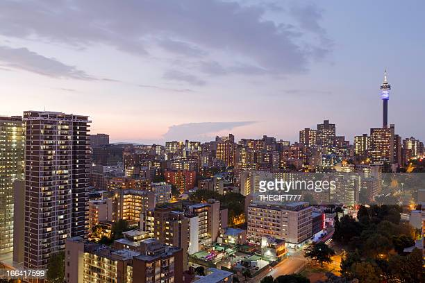 View of skyline of Johannesburg, South Africa