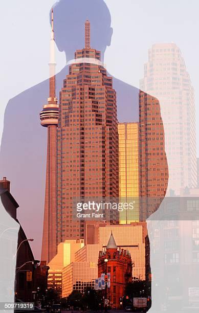 View of skyline of Toronto.
