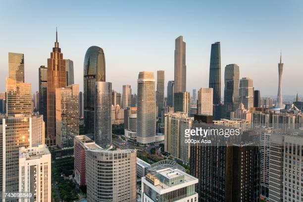 View of skyscrapers, Guangzhou, Guangdong, China
