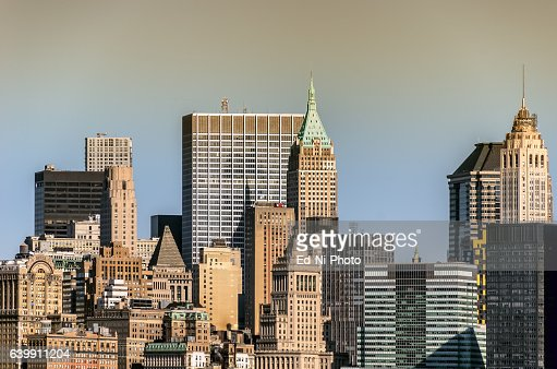 View of skyscrapers in mid town Manhattan, New York City : Foto stock