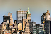 Cityscape of New York city; mid town Manhattan on a clear sunny day.