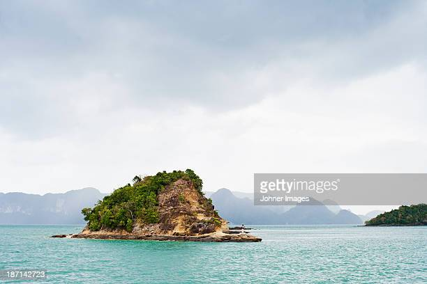 View of small tropical island