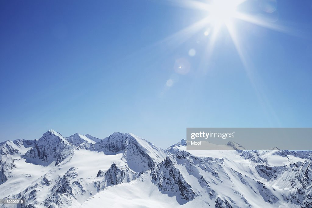 View of snow covered mountain range, Hochgurgi, Austria