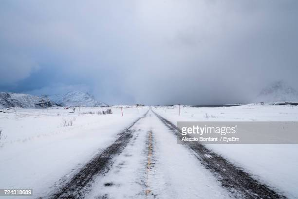 View Of Snow Covered Road