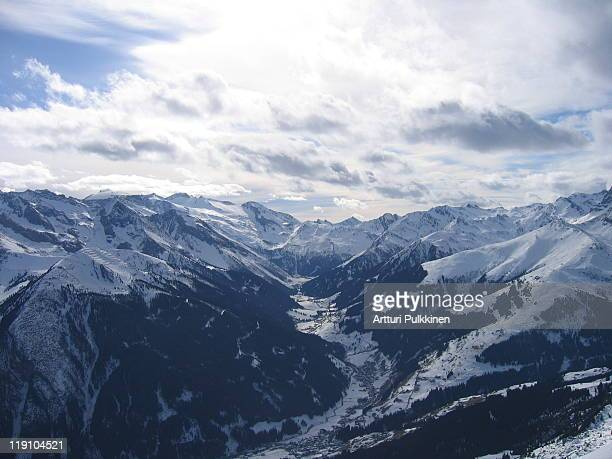 View of snowcapped Alps