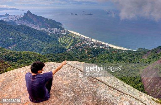 View of São Conrado Beach from Pedra Bonita, Rio