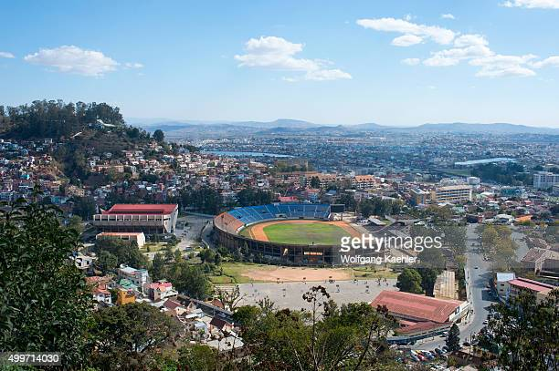 View of soccer stadium in Antananarivo the capital city of Madagascar
