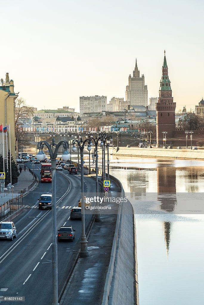 View of Sofiyskaya Embankment : Stockfoto