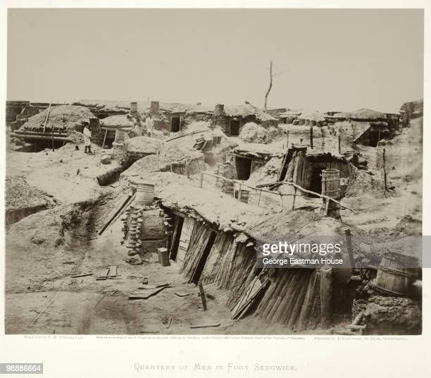 View of soldiers' quarters at Fort Sedgwick generally known as Fort Hell which shows the bombproof quarters occupied by both officers and men...