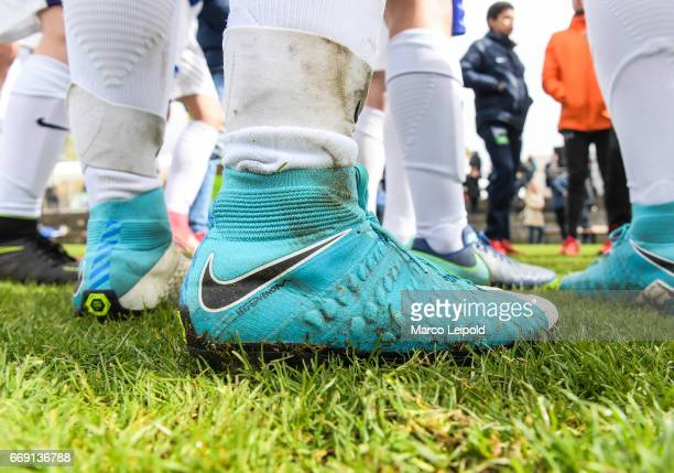 A view of some football boots during the Nike Premier Cup 2017 on april 16 2017 in Berlin Germany