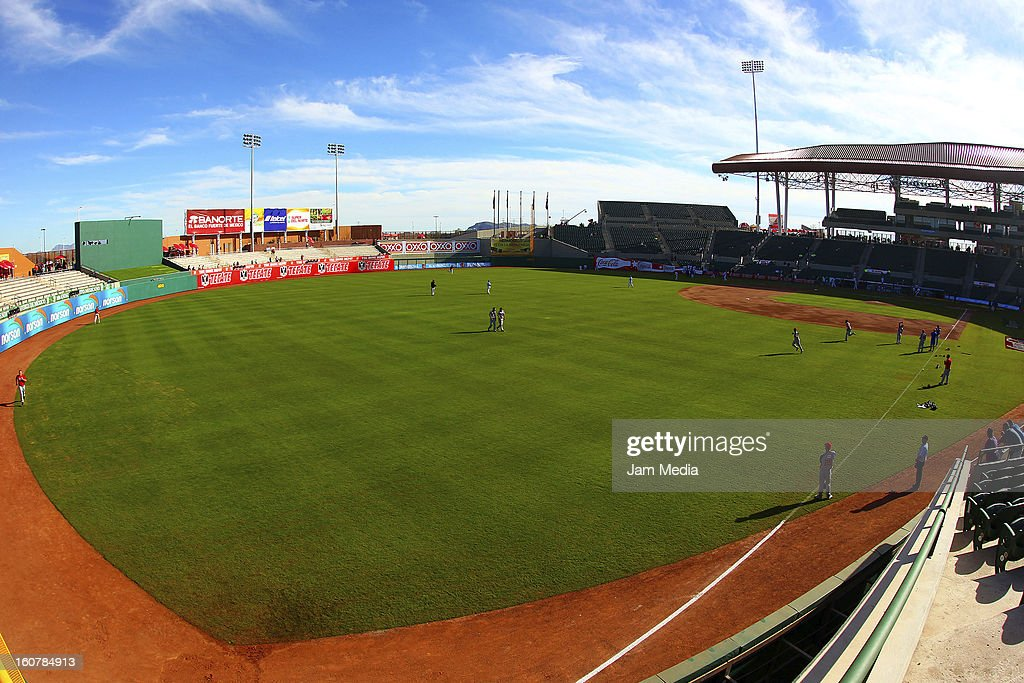 View of Sonora Stadium prior to a match between Puerto Rico and Venezuela as part of the Caribbean Series 2013 at Sonora Stadium on February 05, 2013 in Hermosillo, Mexico.