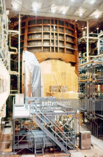 View of Space Chamber A during its construction at NASA's Manned Space Center Houston Texas 1960s