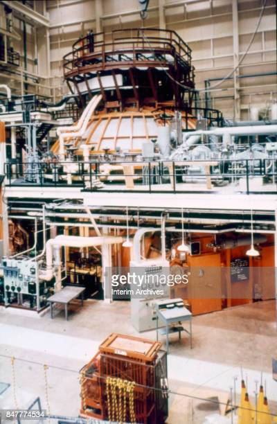 View of Space Chamber B in the Environmental Test Lab at NASA's Manned Space Center Houston Texas 1960s