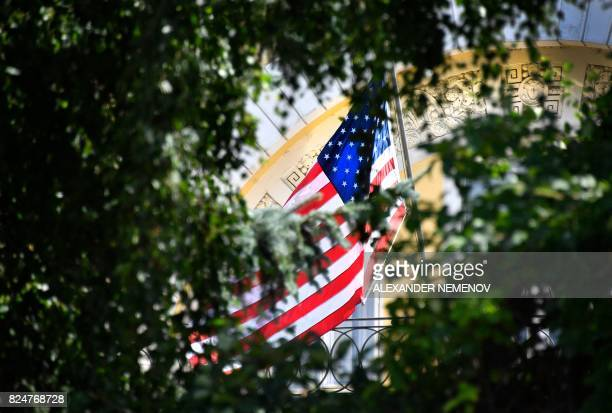 A view of Spaso House a mansion which serves as the US ambassador's residence in Moscow on July 31 2017 President Vladimir Putin on July 30 2017 said...