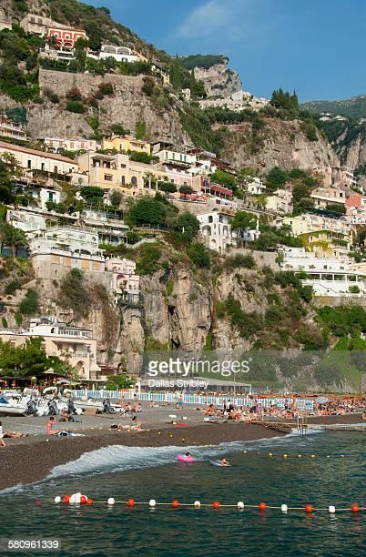 View of Spiaggia Grande ( main beach ) in Positano