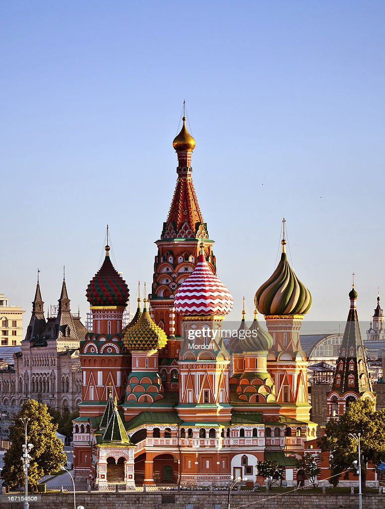 View of St. Basil's Cathedral in early morning