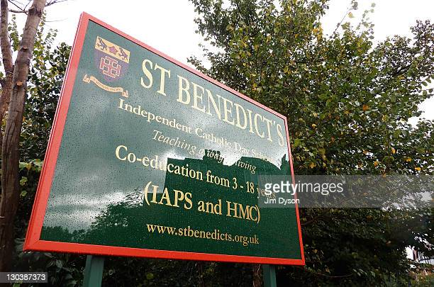 A view of St Benedict's Catholic school in Ealing on October 26 2011 in London England A highlevel Vatican inquiry known as an 'apostolic visitation'...