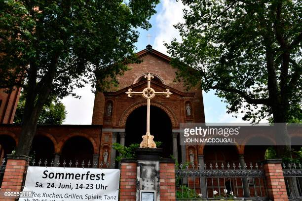 View of St Johannis Protestant church which houses the Ibn RushdGoethemosque in Berlin on June 16 2017 Founded by Seyran Ates the mosque aims to...
